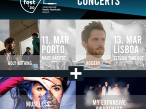 TALKFEST'20 | Concerts in Lisboa and Porto with Noiserv, Holy Nothing, Museless and My Expansive Awa