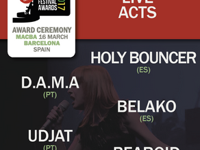 One week left to Talkfest'17 and Iberian Festival Awards Live Acts