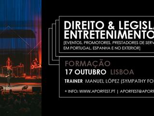 """Formação: """"Direito & Legislação do Entretenimento - eventos, promotores, prestadores de ser"""