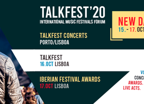 TALKFEST AND IBERIAN FESTIVAL AWARDS 2020   New dates