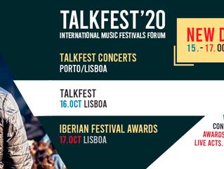 TALKFEST e IBERIAN FESTIVAL AWARDS 2020 |  Novas datas
