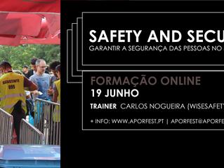 """Formação: """"Safety & Security - como tornar o meu evento seguro e sem riscos?"""" (1ª ediç"""