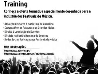 """Novo programa de formação """"Music Festival Training"""""""