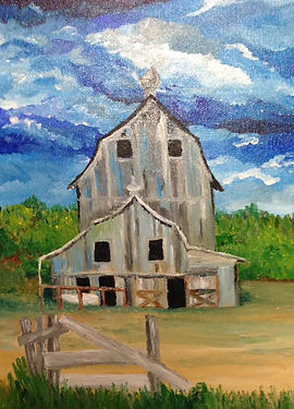 Acrylic painting on stretched canvas, canvas boards or wood.