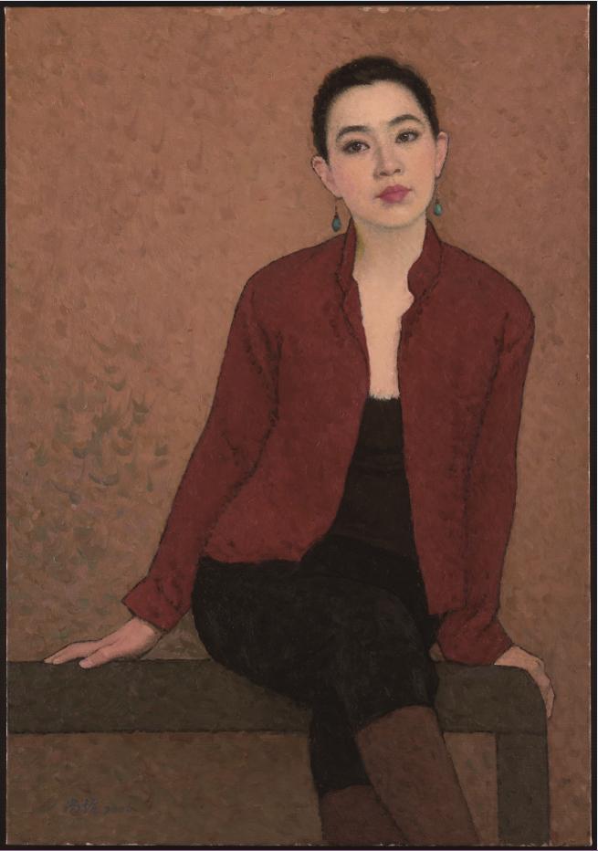 陈曦肖像,2006,80X55.5 cm,布面油画