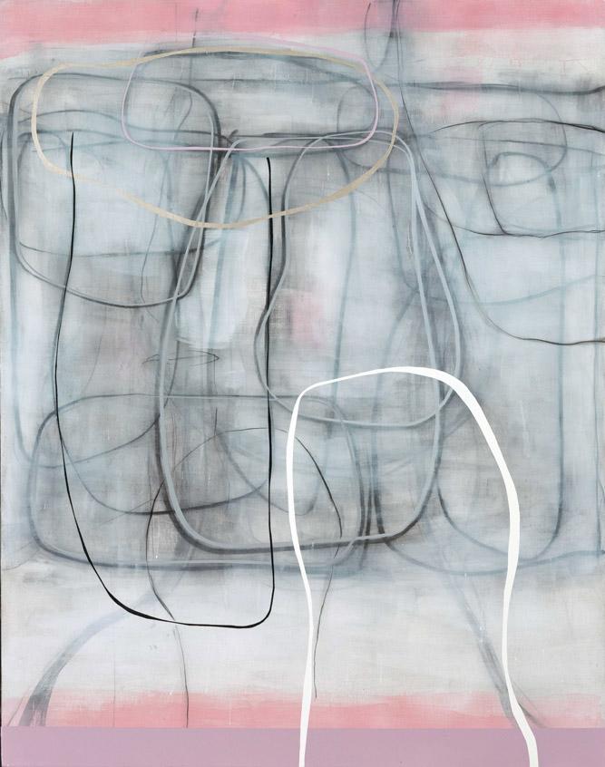周力 线-粉色 之五 2016 综合材料 160 cm x 130 cm