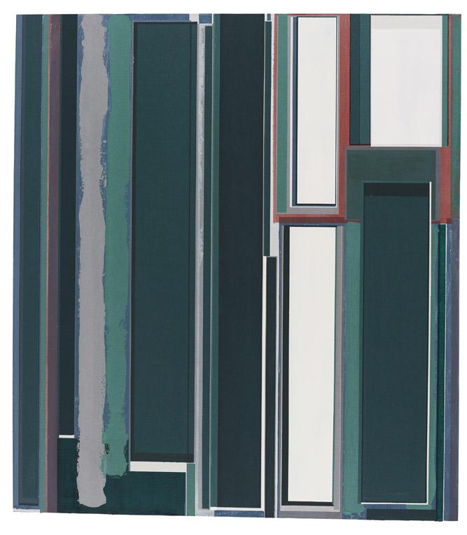 刘可 一封信总抵达它的目的地 2016-17 布面油彩、丙烯与水彩 180 x 165 cm