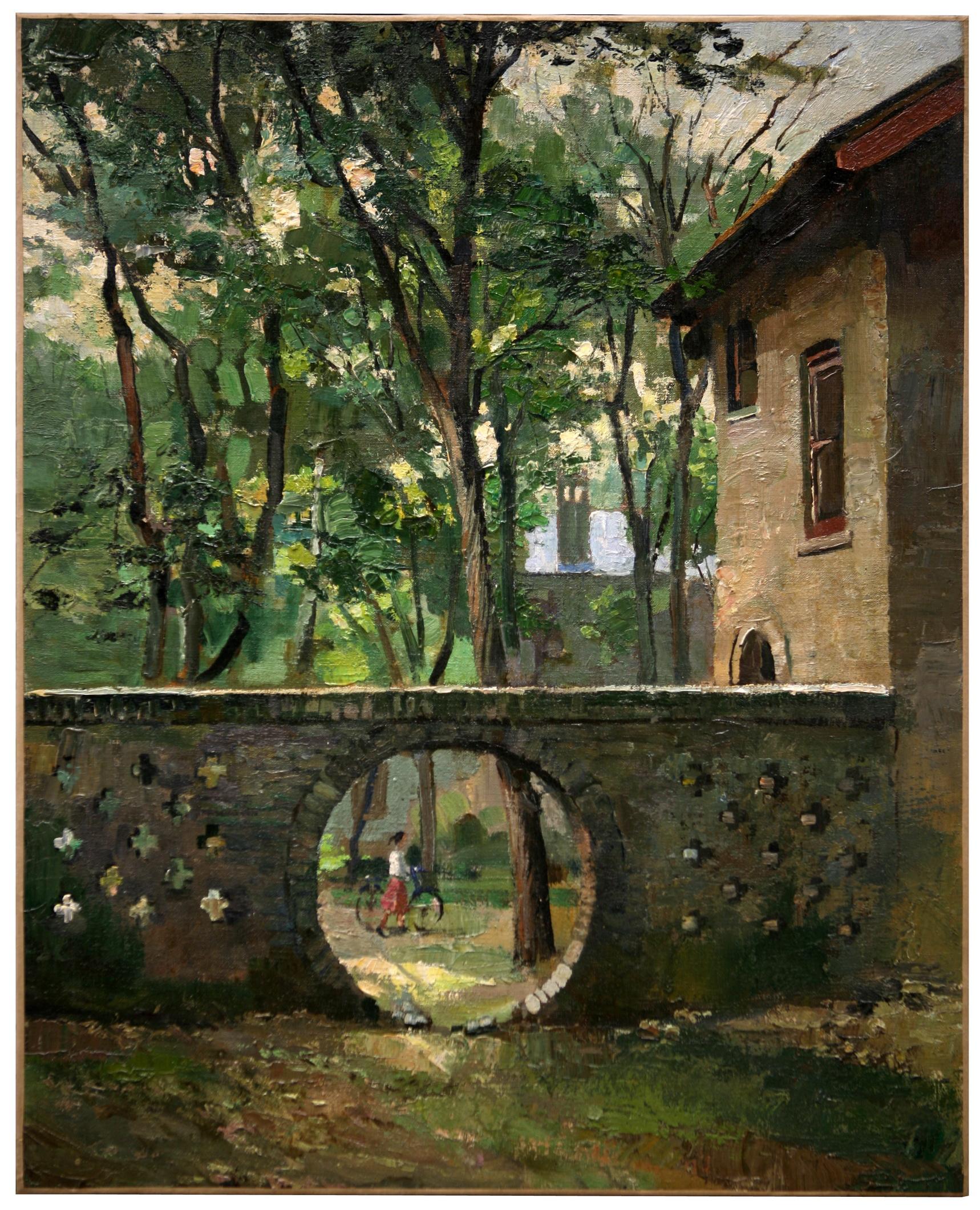 燕东园风景之二 72.7cm×59.5cm 油画  1974