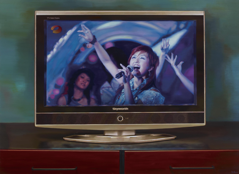 陈曦 《中国记忆之超级女声》 布面油画