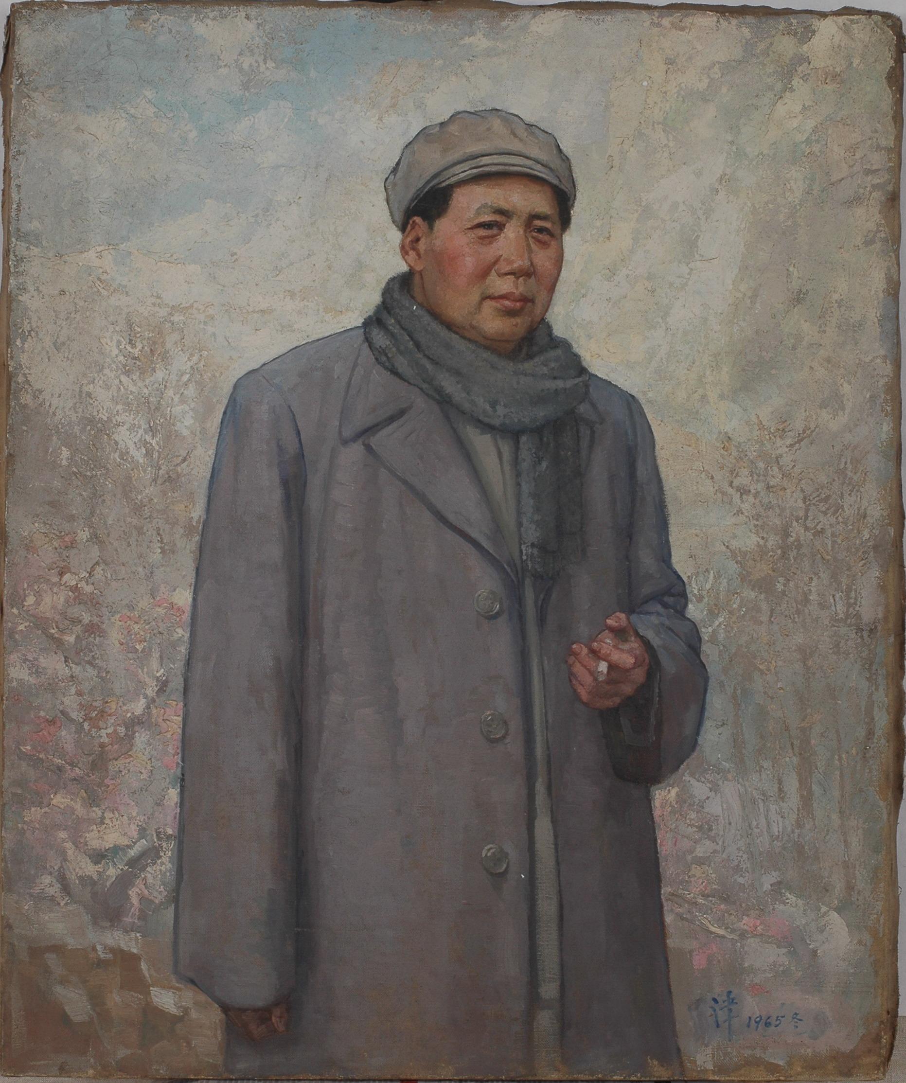 毛泽东像 72.3cm×60cm 油画  1965