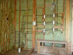 Rough wall plumbing Shower