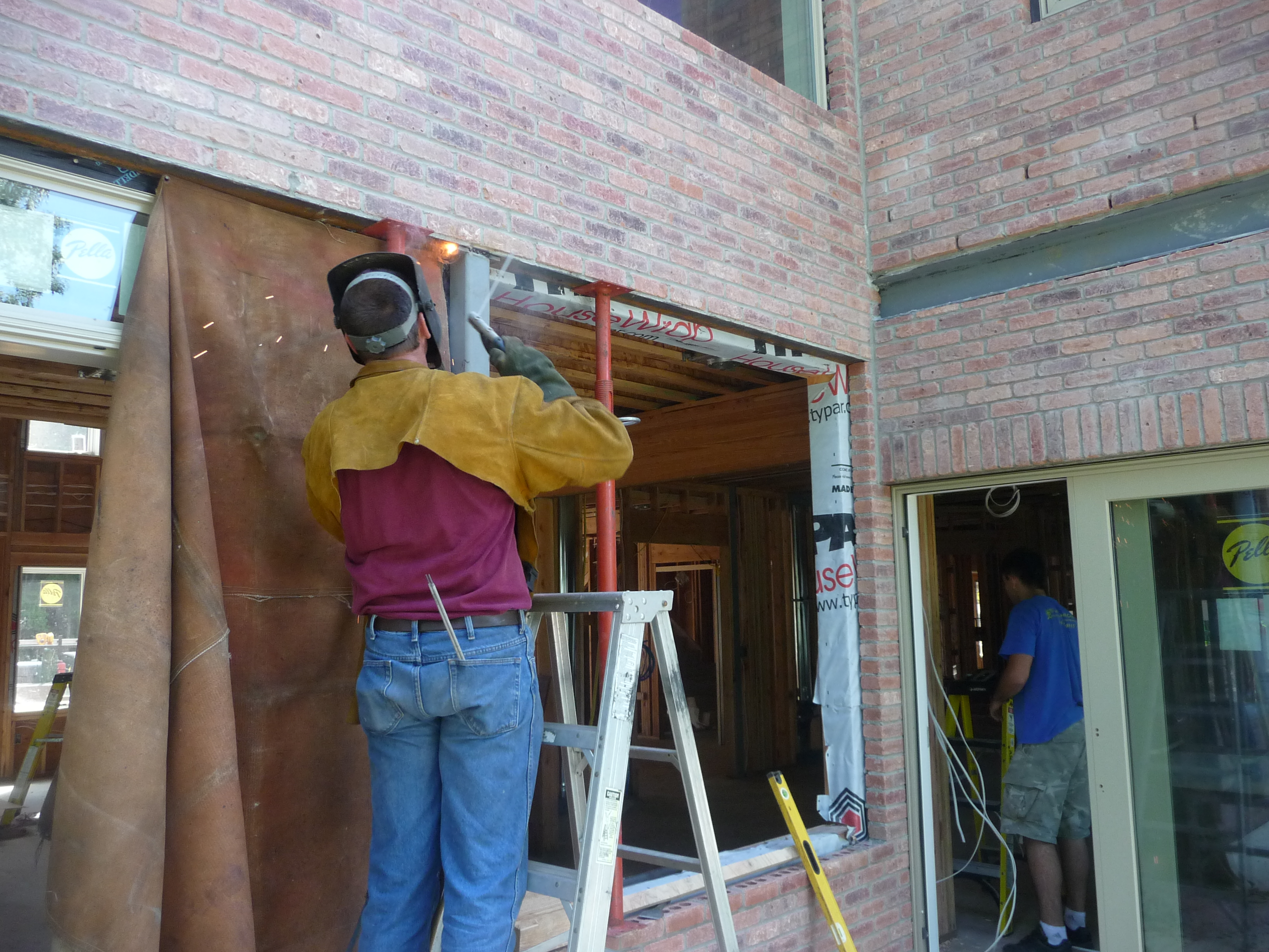 welding steel residential home