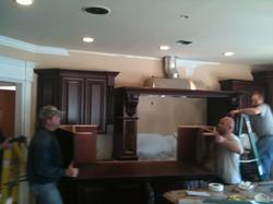 install cherry custom kitchen cabinets