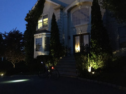 New Construction exterior at night