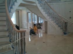trim work during construction