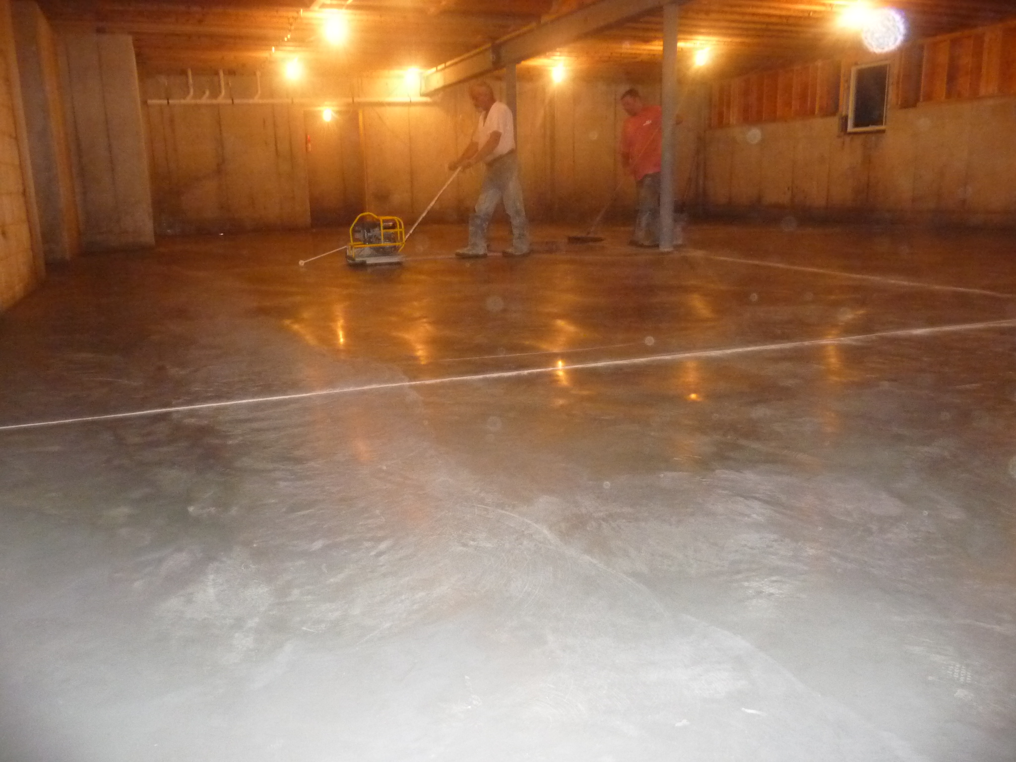 finishing concrete floor basement