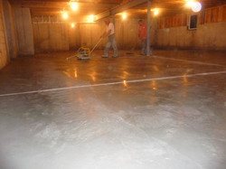 finishing concrete floor basement