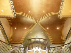 Custom high ceiling entry foyer