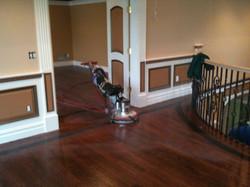sanding finish wood floors