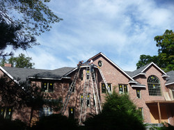 installing roof on custom brick home