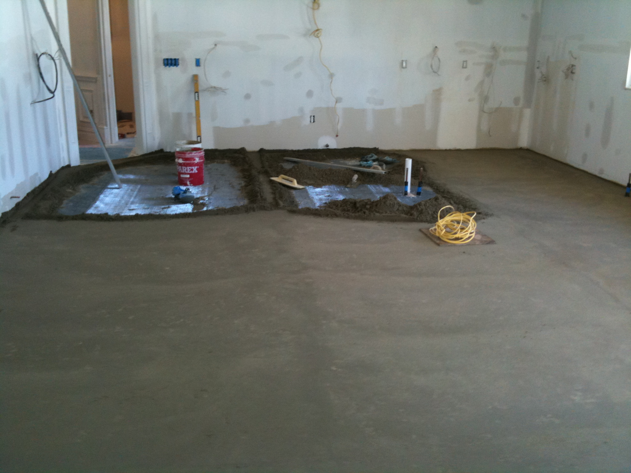 Cement Mud Job for New kitchen