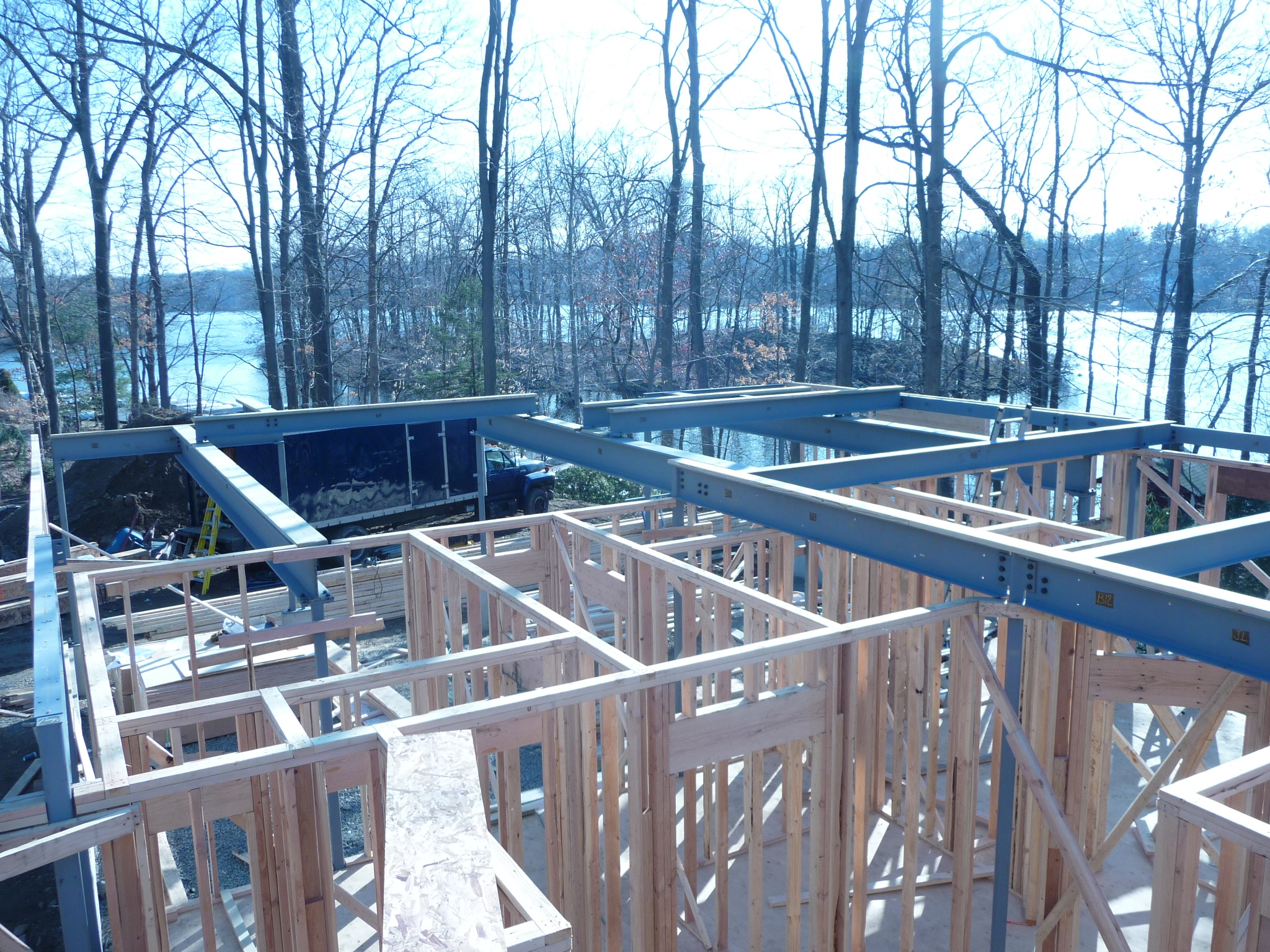 installed steel residential home