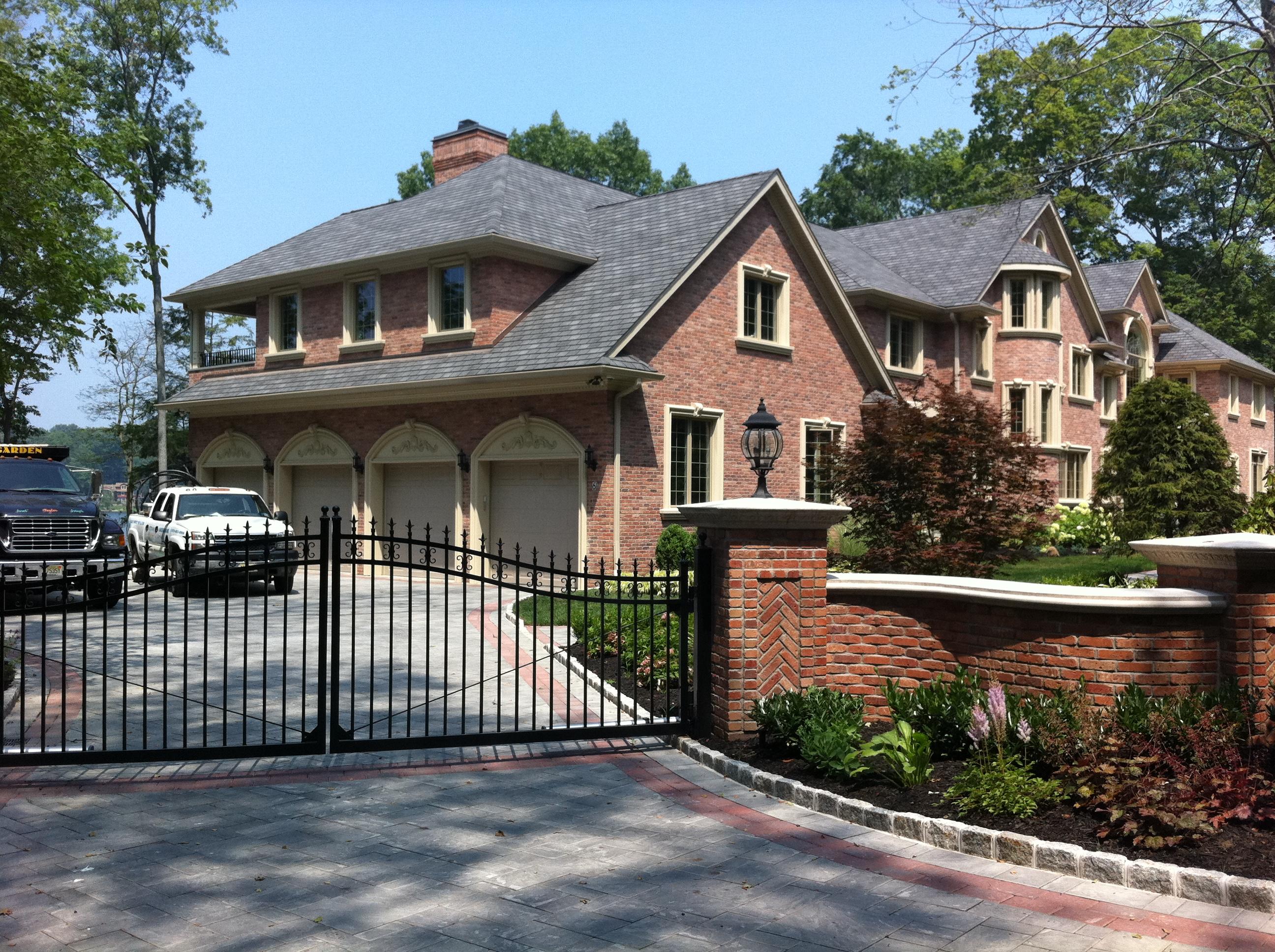 renovation custom home brick exterior