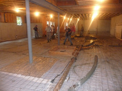 prepping floor for concrete
