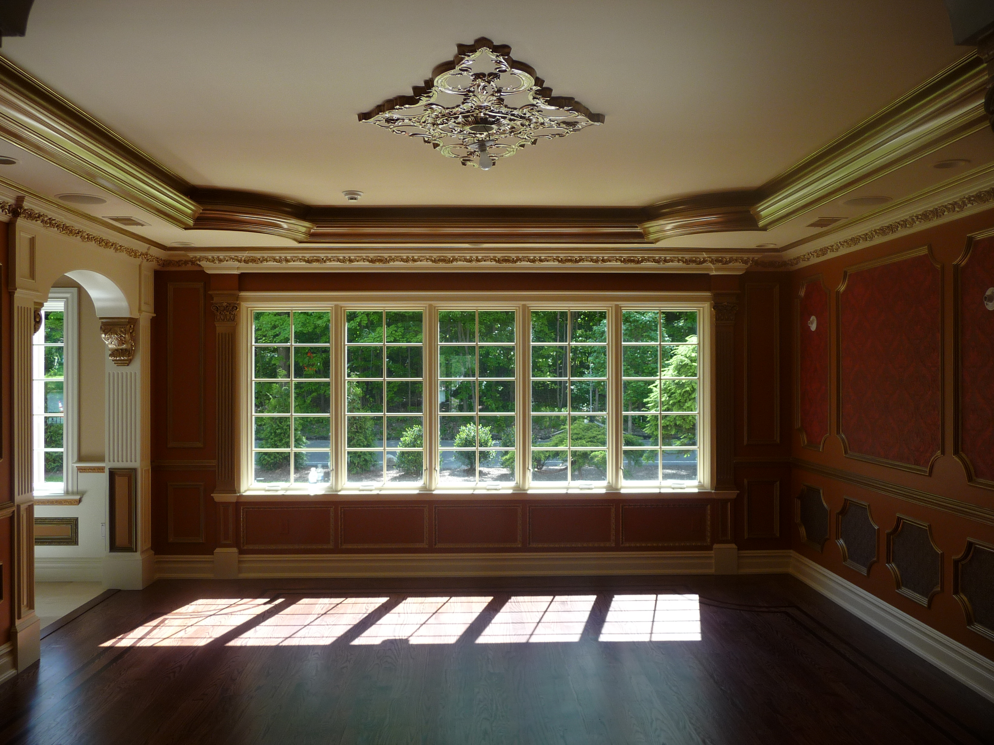 Dining Room with Custom Trim