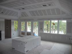 drywall of bedroom before paint