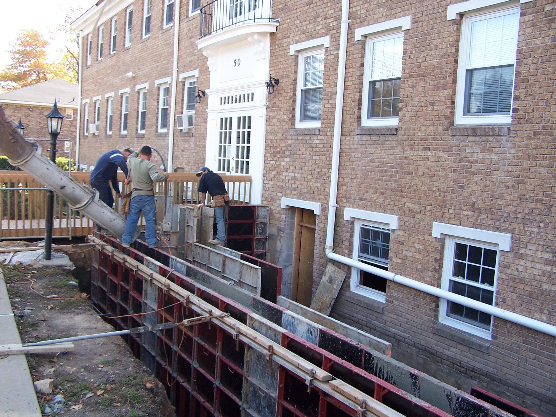 Pouring Handicap Ramp Walls