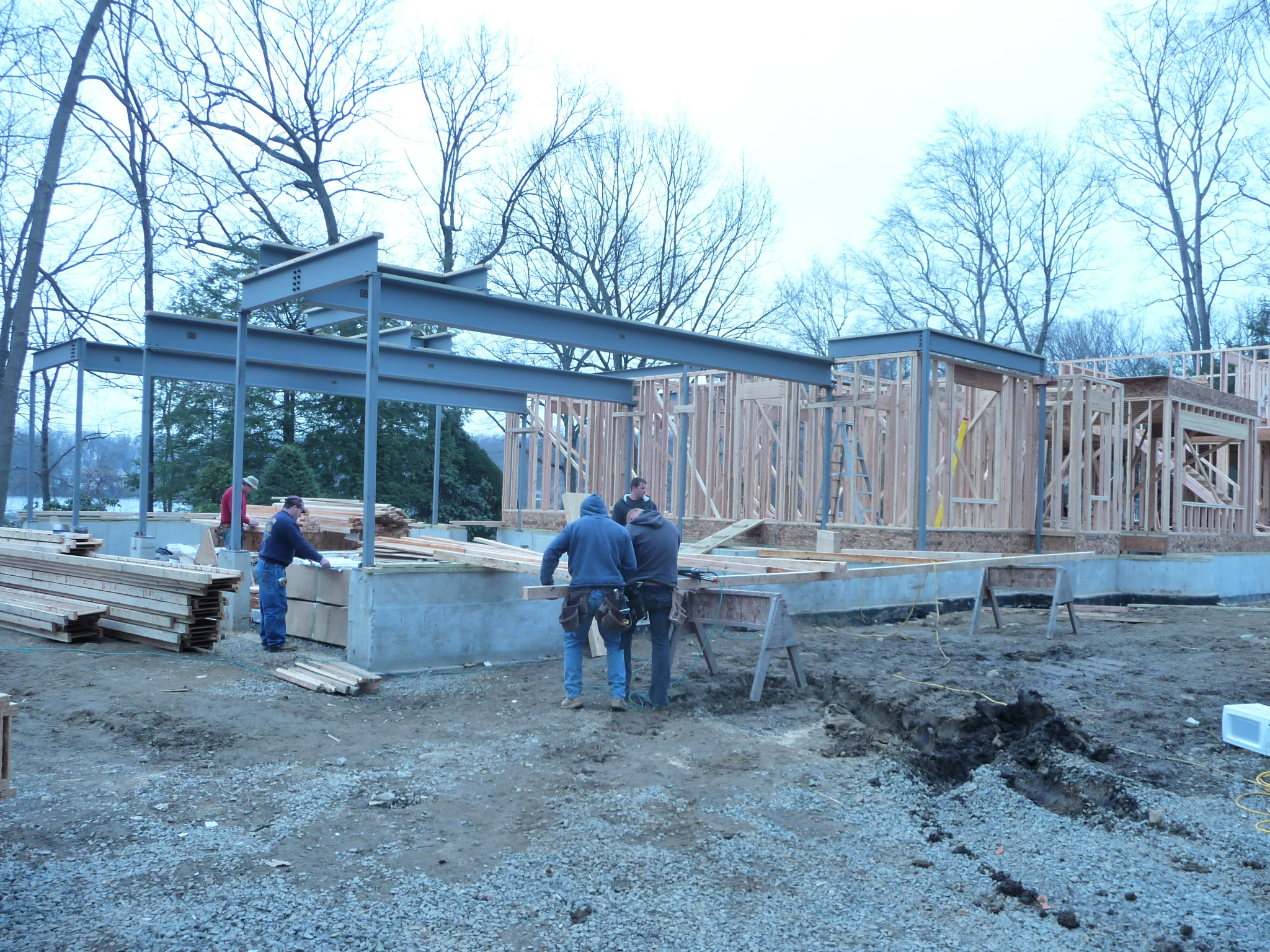 installing steel residential home