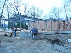 installing steel residential home