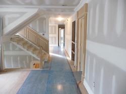 custom trim with floor protection