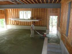 installing concrete floor