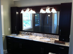 Custom Bathroom Vanity Completed Renovation Woodcliff Lake NJ