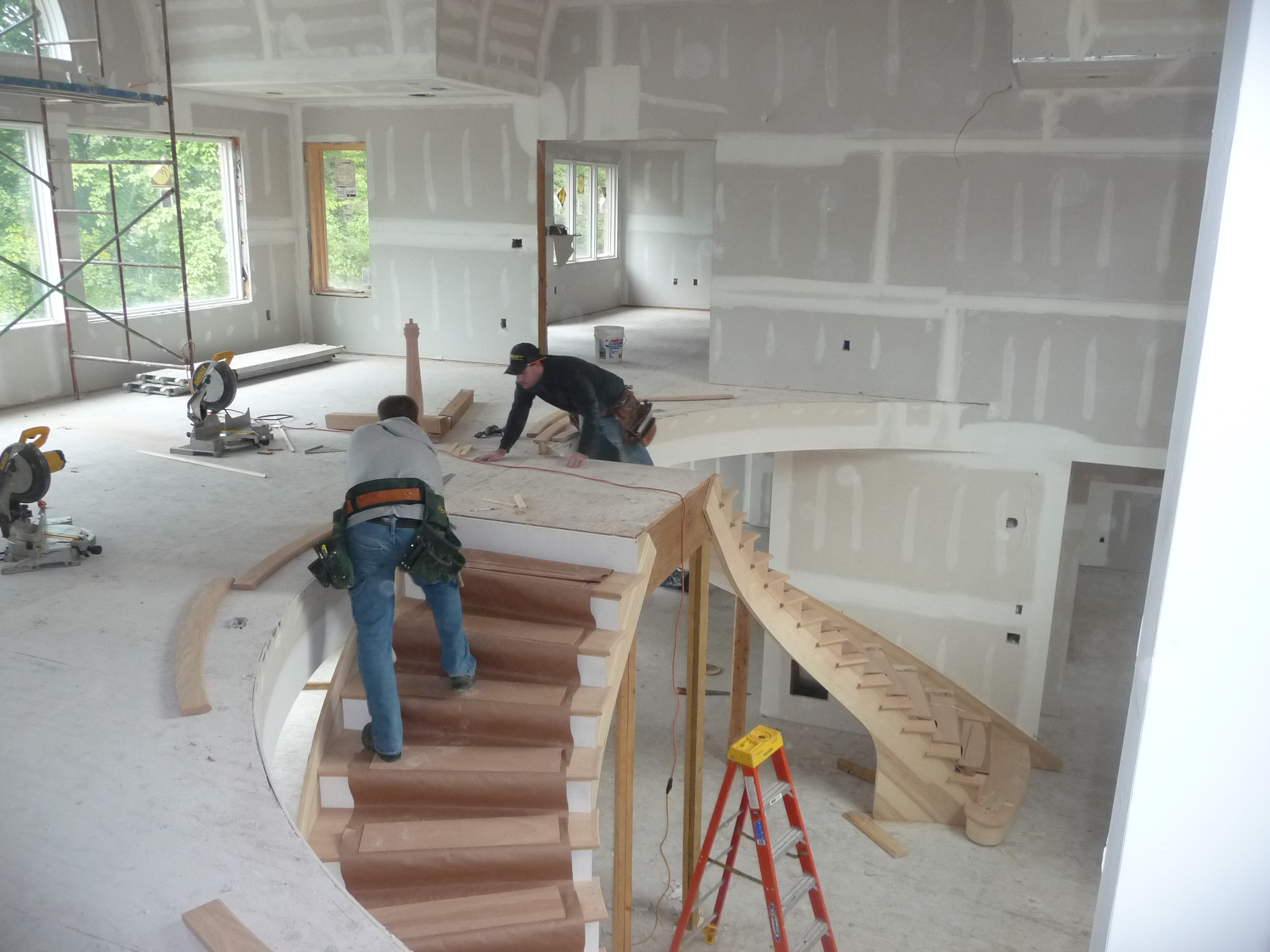 installing custom stairs