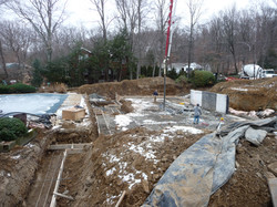 installing concrete forms for footings 09 232
