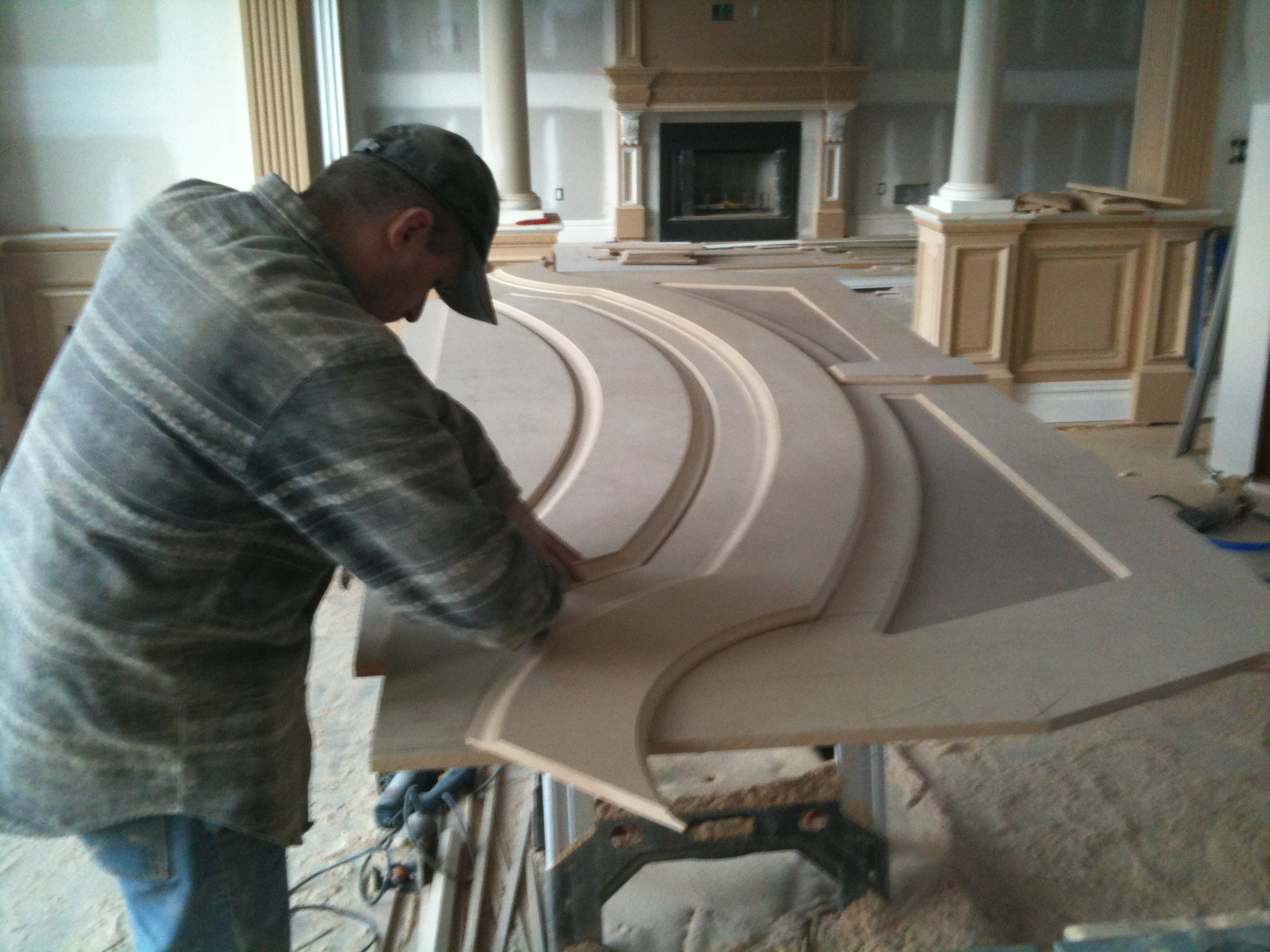 trim work during construction