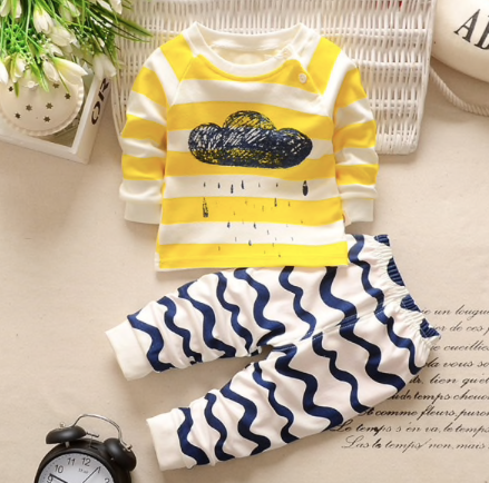 Bed Time Navy & Yellow