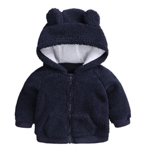 Newborn Warm Hoodie Navy