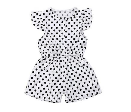 Baby Jumpsuit Dot Print