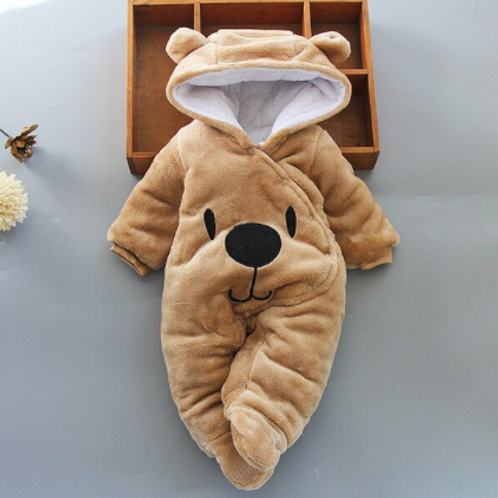 Newborn Romper Brown