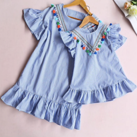 Mom And Daughter Summer Dress