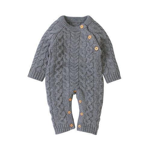 Cozy Bodysuit Sweater Grey