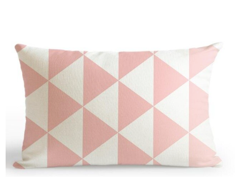 Pink & White Cushion Cover