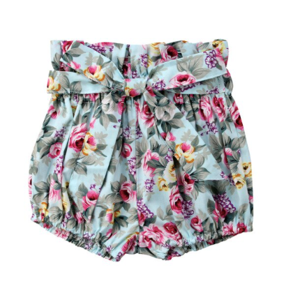Baby Girl Ruffled Bloomer Shorts