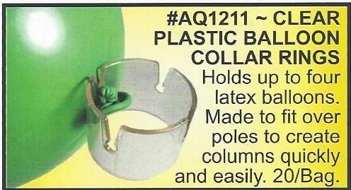 Clear Plastic Balloons Collar Rings
