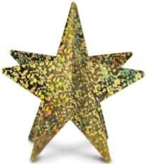 3D Prismatic Star Centerpieces