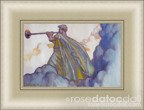 Clarion Call, by Rose Datoc Dall, 14x9, 21x16 frame